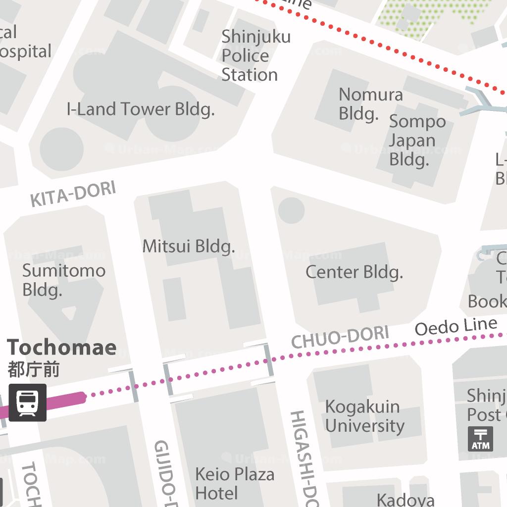 Tokyo Shinjuku City Map - A Smart City Guide Map, Even Offline!