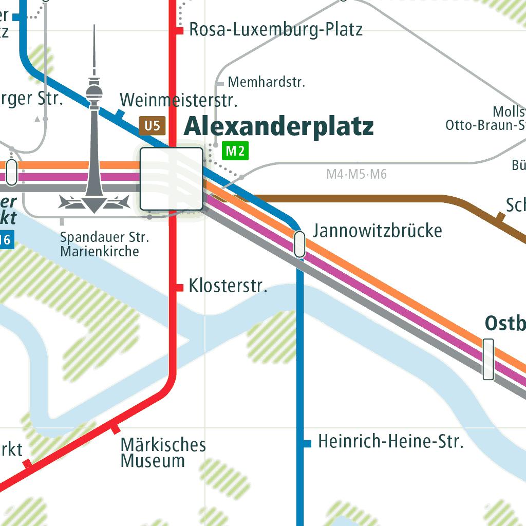 Berlin rail map a smart city guide map, even offline!