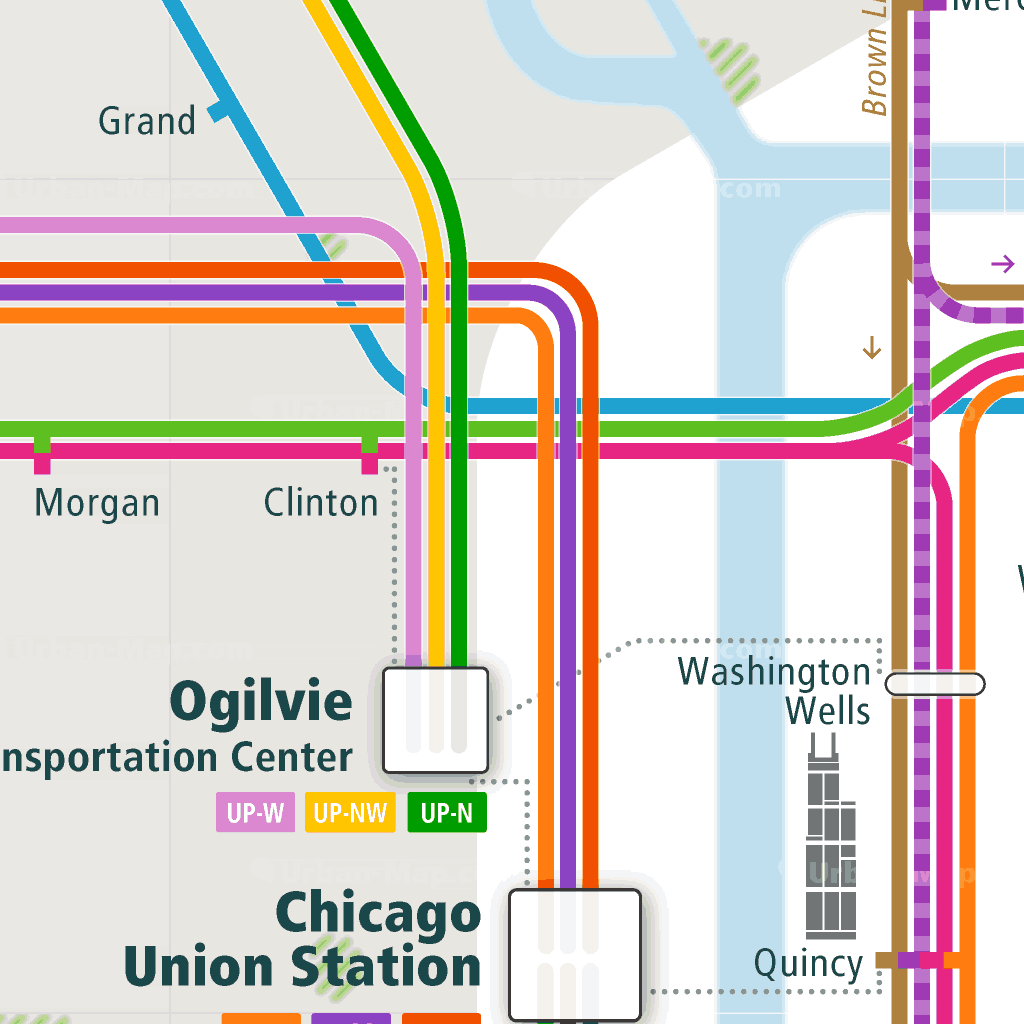 Chicago Rail Map - A Smart City Guide Map, Even Offline! on