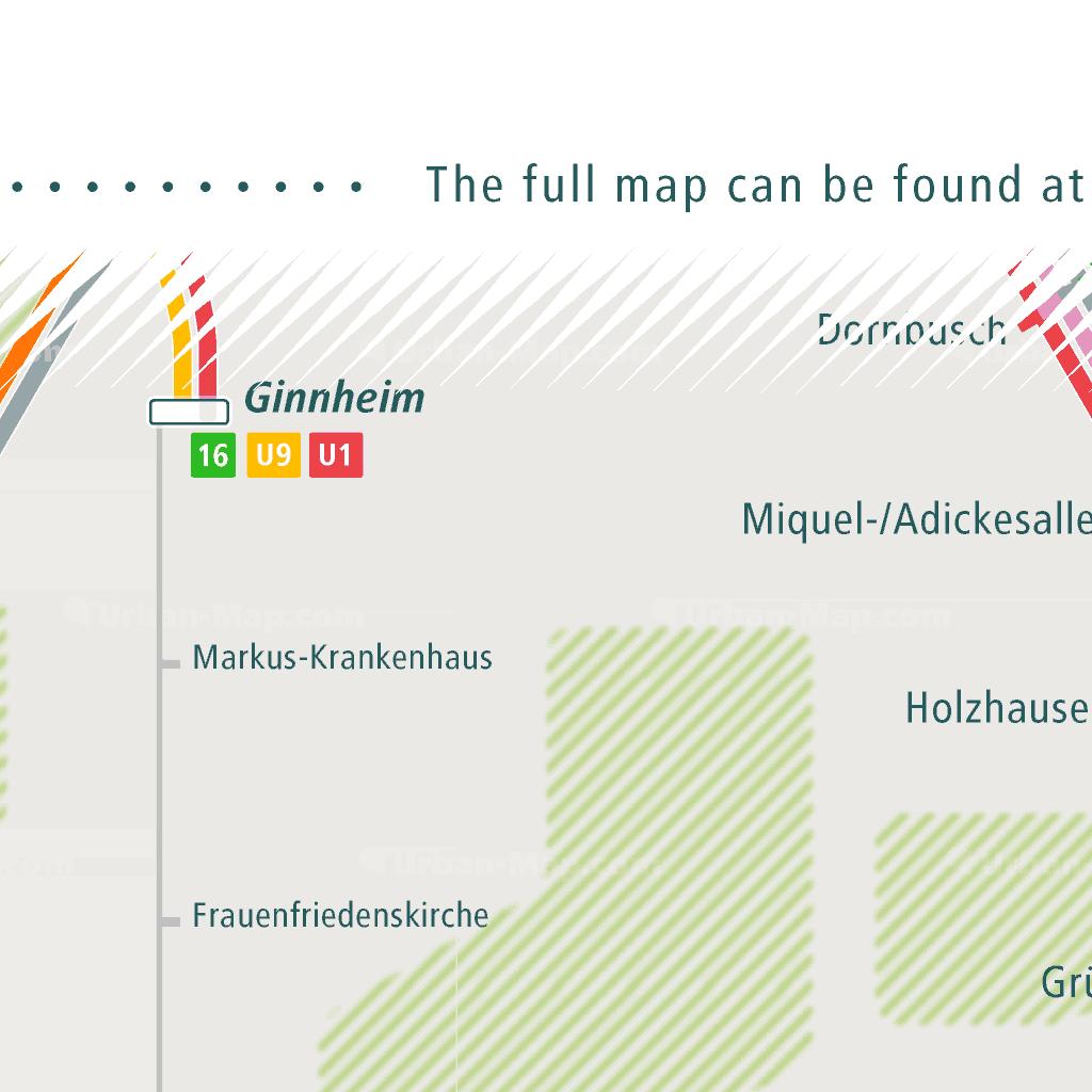 Frankfurt Rail Map - A Smart City Guide Map, Even Offline!