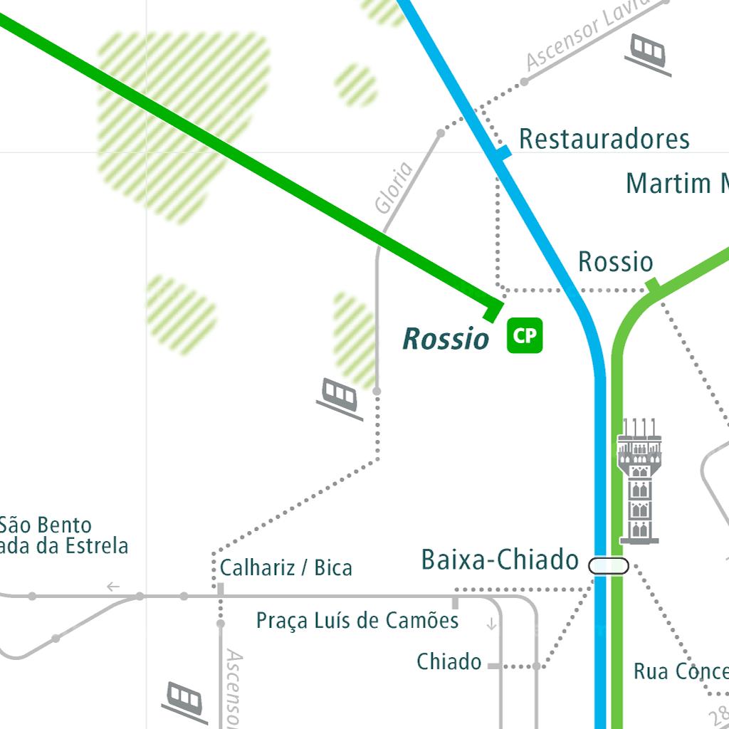Lisbon Rail Map - A Smart City Guide Map, Even Offline! on