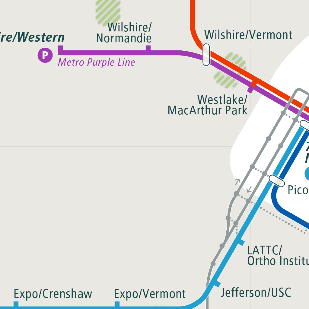 Santa Monica Subway Map.Los Angeles Rail Map A Smart City Guide Map Even Offline