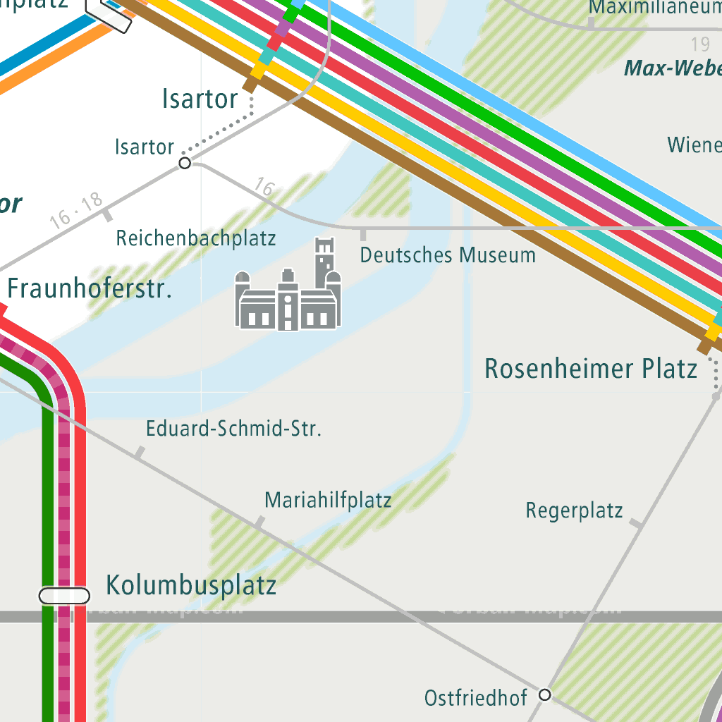 Munich Subway Map.Munich Rail Map A Smart City Guide Map Even Offline