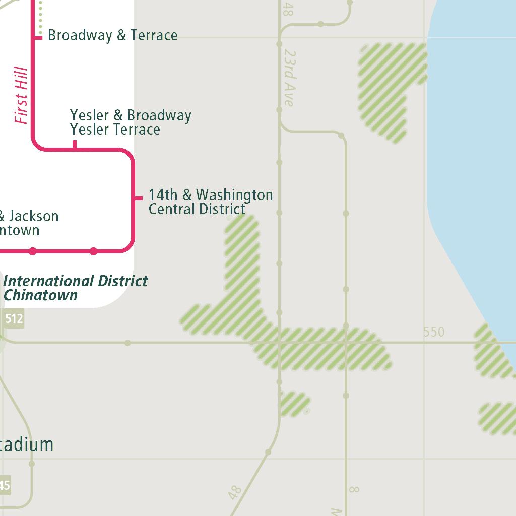 Seattle Rail Map - A Smart City Guide Map, Even Offline!