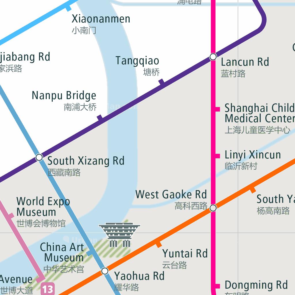 Shanghai Rail Map - A Smart City Guide Map, Even Offline!