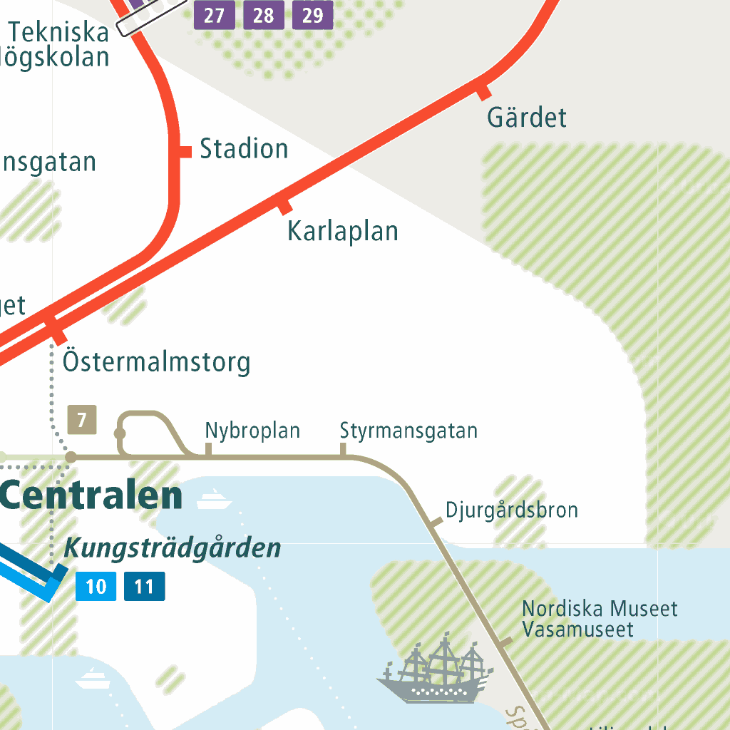 Sweden Subway Map.Stockholm Rail Map A Smart City Guide Map Even Offline