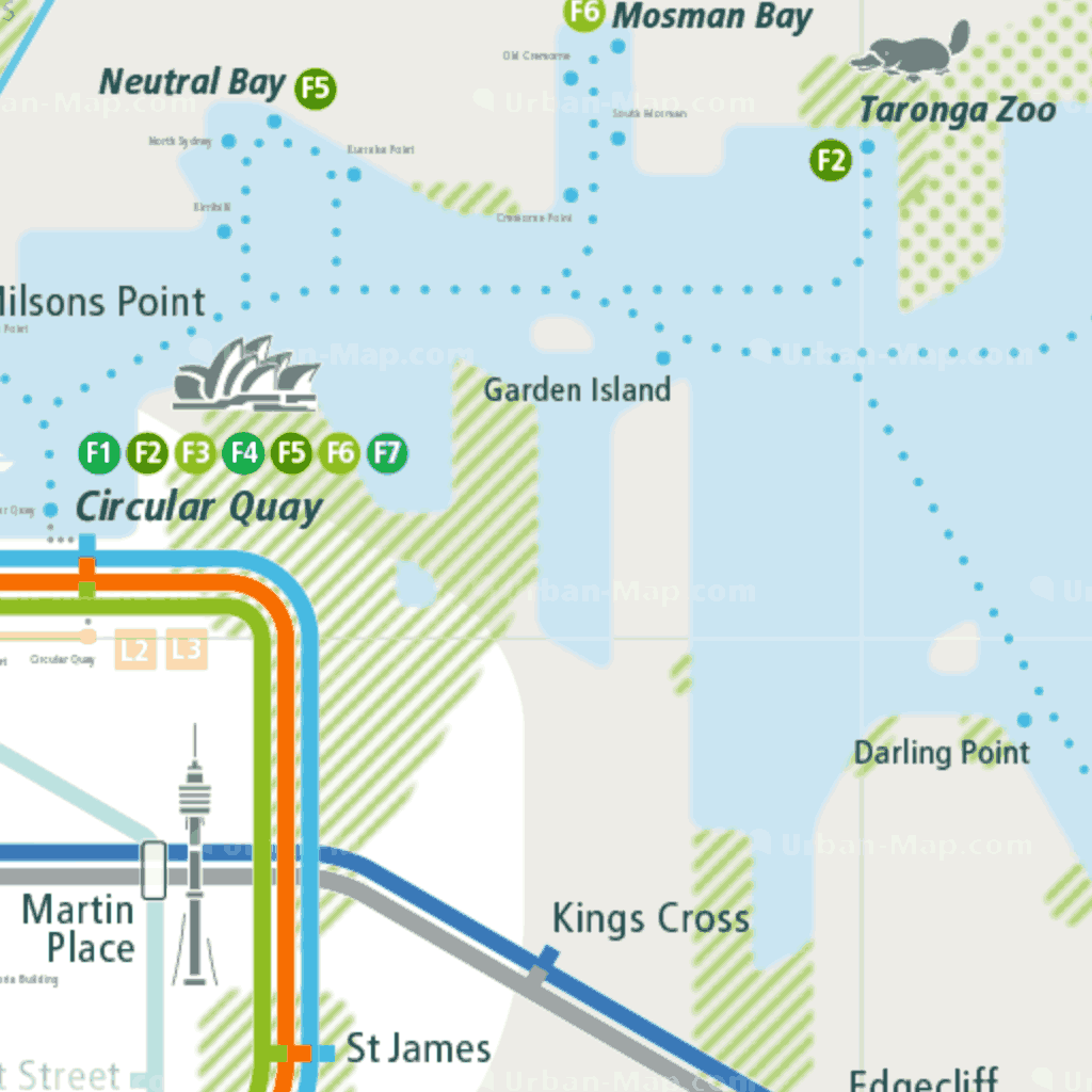 Sydney Rail Map - A Smart City Guide Map, Even Offline!
