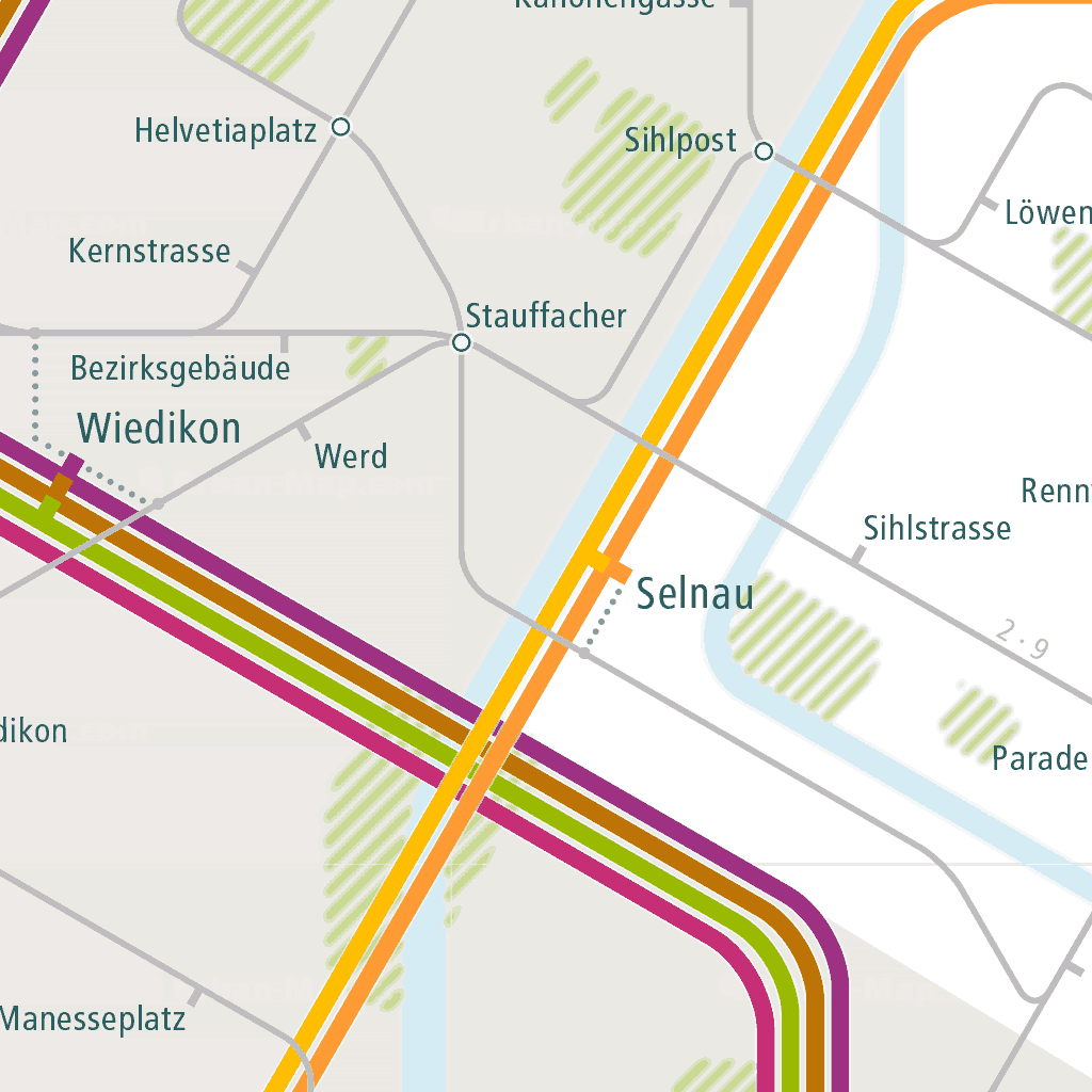 Zürich Rail Map - A Smart City Guide Map, Even Offline! on