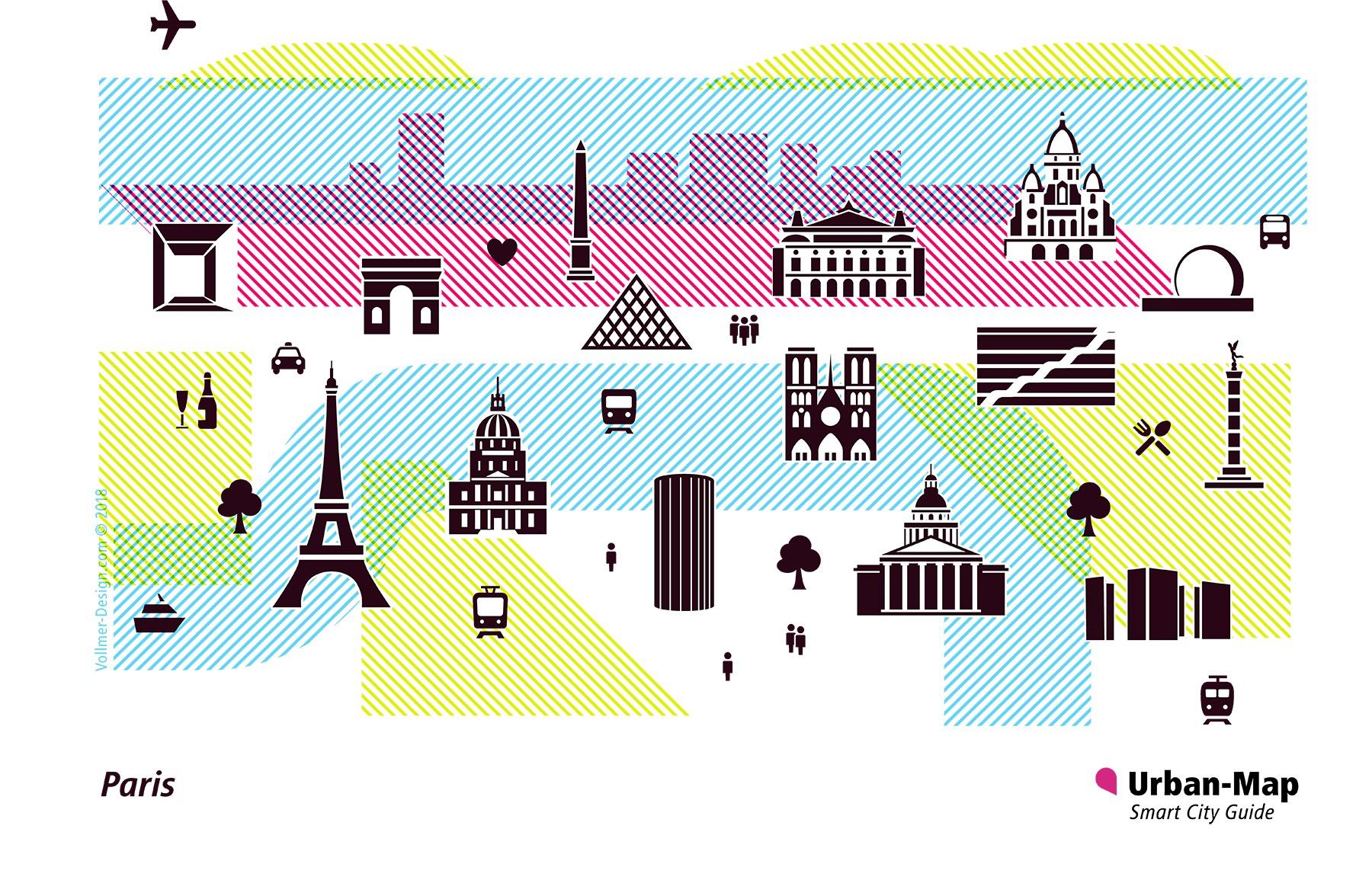Paris City Icons