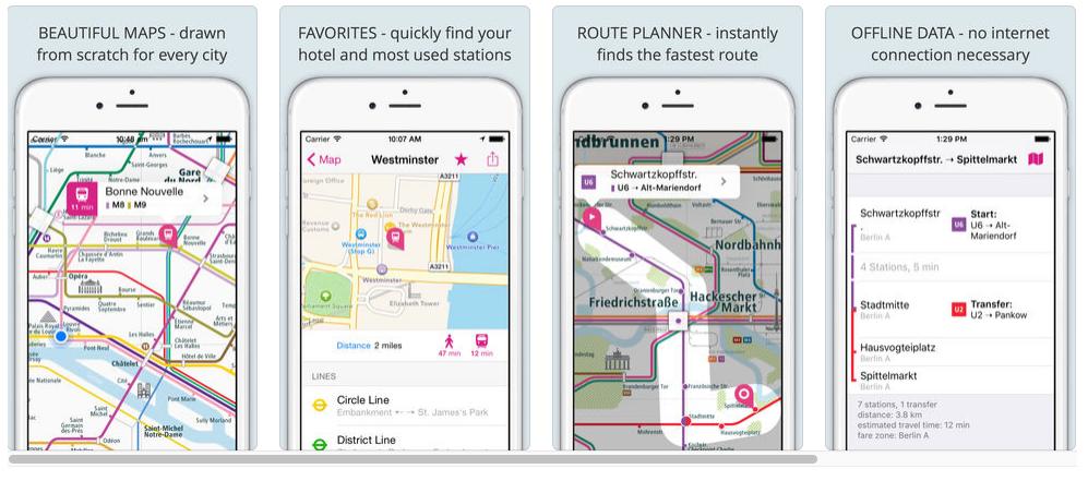 City Rail Map Screen Example