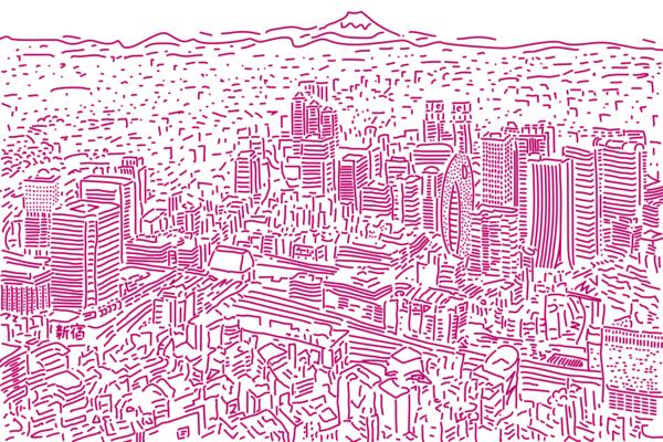 Shinjuku Station Illustiation