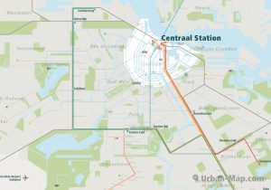 Amsterdam City Rail Map for train and public transportation - Overview