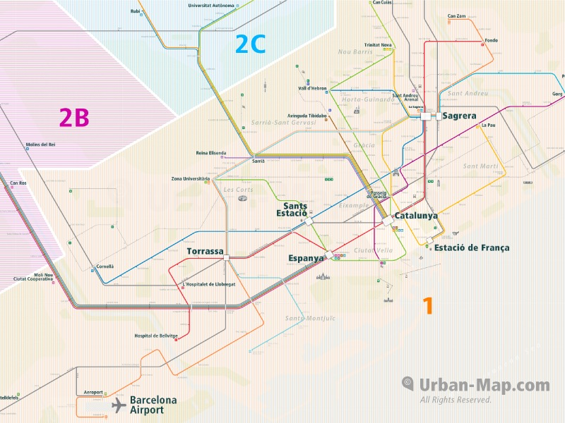 Barcelona Rail Map A Smart City Map Even Offline Download Now
