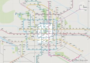 Beijing City Rail Map for train and public transportation - Overview