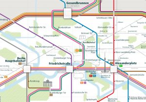 Berlin City Rail Map for train and public transportation  - Berlin