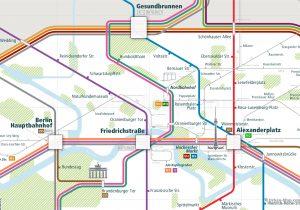 Berlin City Rail Map for train and public transportation - Berlin