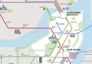 Boston Rail Map Close-up