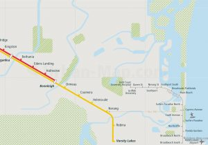 Brisbane City Rail Map for train and public transportation - Gold Coast