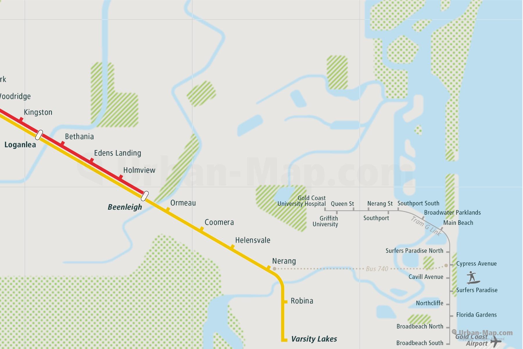 Brisbane Rail Map A Smart City Map Even Offline Download Now