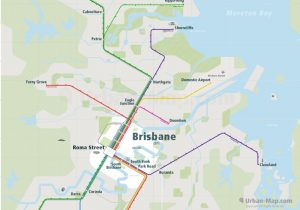 Brisbane City Rail Map for train and public transportation - Overview