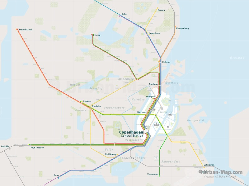 Copenhagen Rail Map
