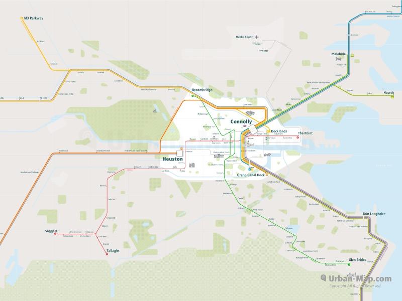 Dublin Rail Map 2
