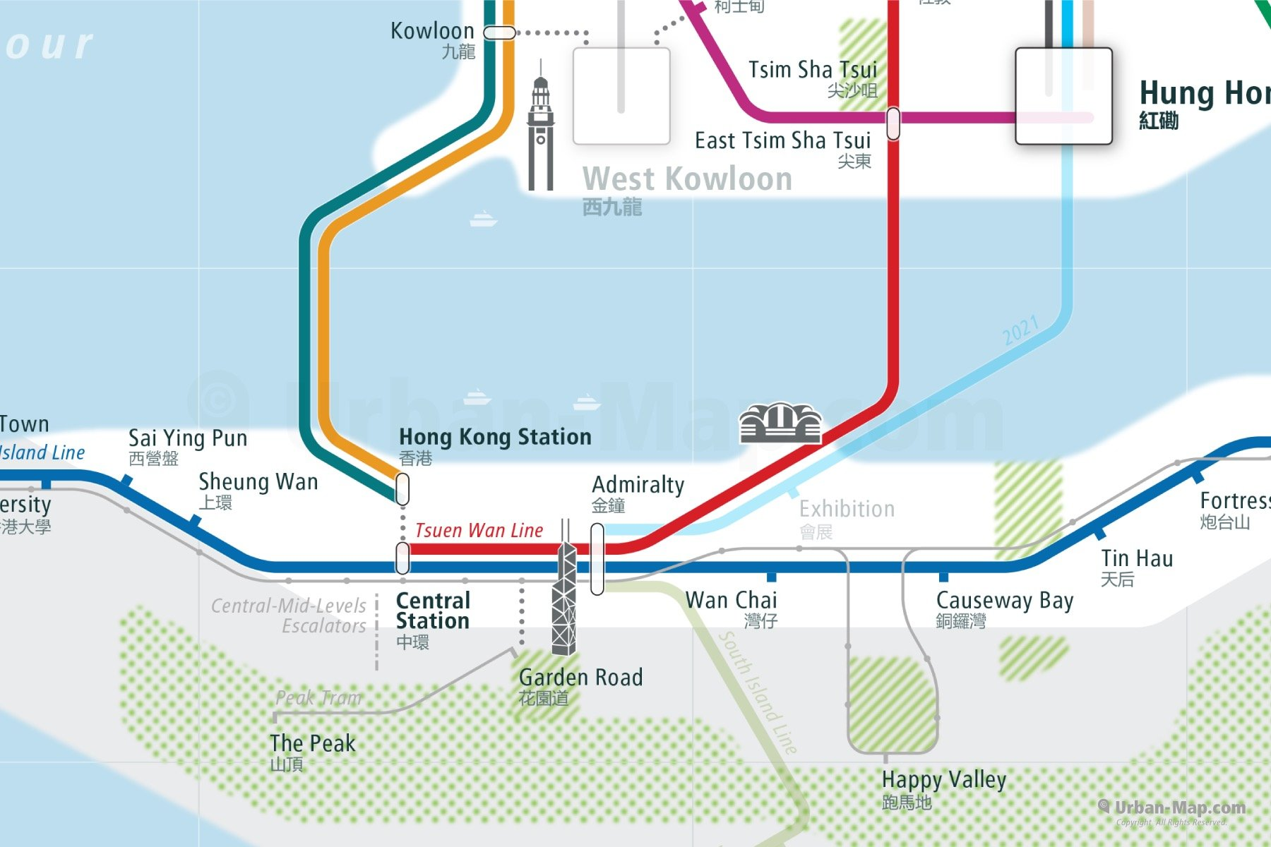 Hong Kong Rail Map