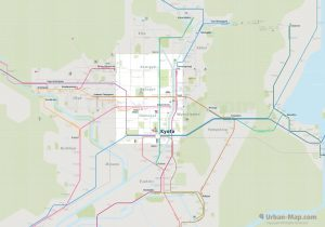 Kyoto City Rail Map for train and public transportation  - Overview