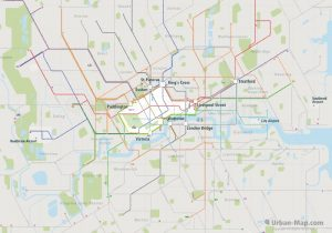 London City Rail Map for train and public transportation  - Overview