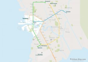 Manila City Rail Map for train and public transportation  - Overview