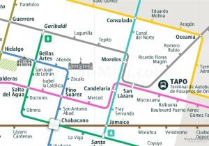Mexico Rail Map Close-up