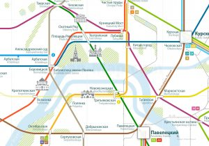 Moscow Rail Map Russian
