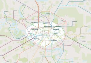 Moscow Rail Map Overview