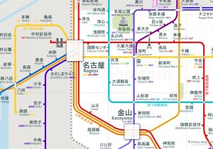 Nagoya City Rail Map for train and public transportation  - Japanese