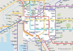 Nagoya City Rail Map for train and public transportation  - Overview