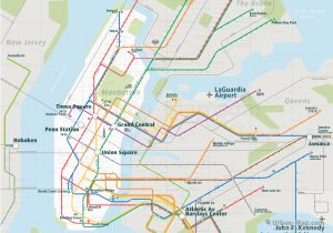 NewYork City Rail Map for train and public transportation  - Overview