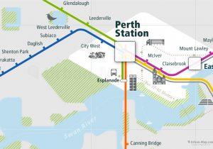 Perth City Rail Map for train and public transportation - Perth