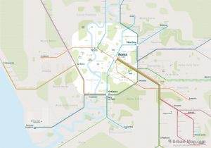 Rome City Rail Map for train and public transportation - Overview