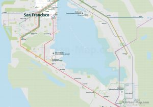 SanFrancisco City Rail Map for train and public transportation - Overview