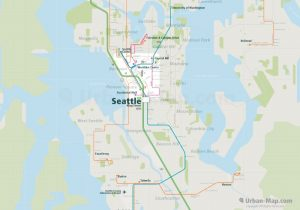 Seattle City Rail Map for train and public transportation  - Overview