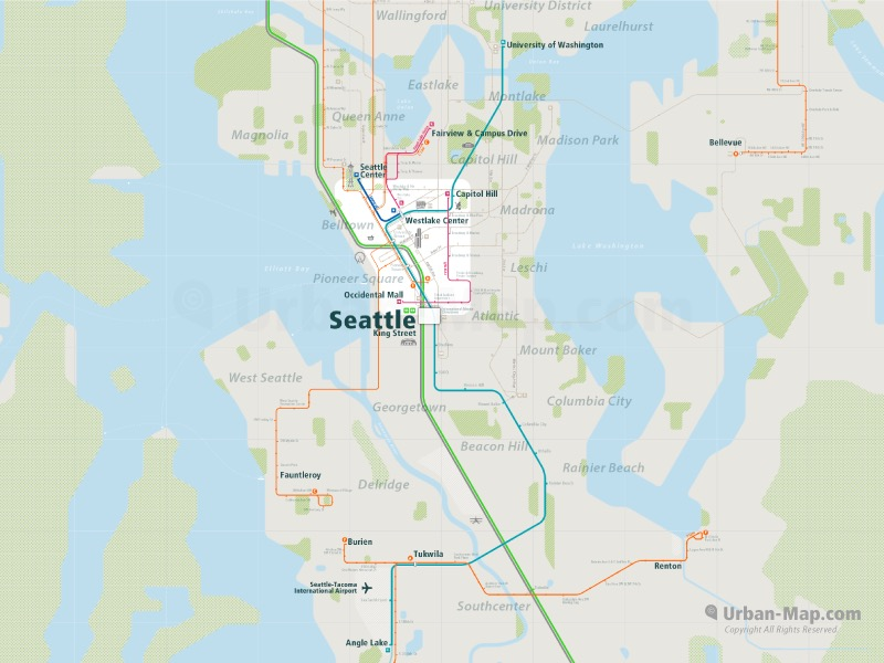 Seattle Rail Map Find Yourself Even Offline