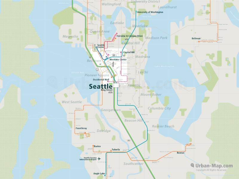 Seattle Rail Map 2