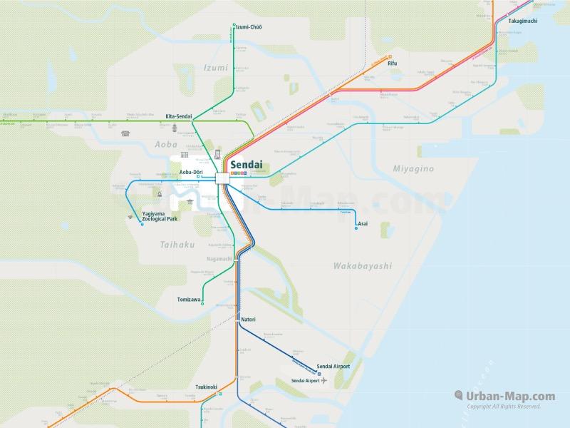 Sendai Rail Map A Smart City Map Even Offline Download Now