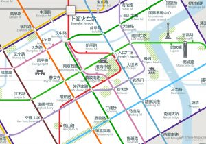 Shanghai City Rail Map for train and public transportation - Chinese