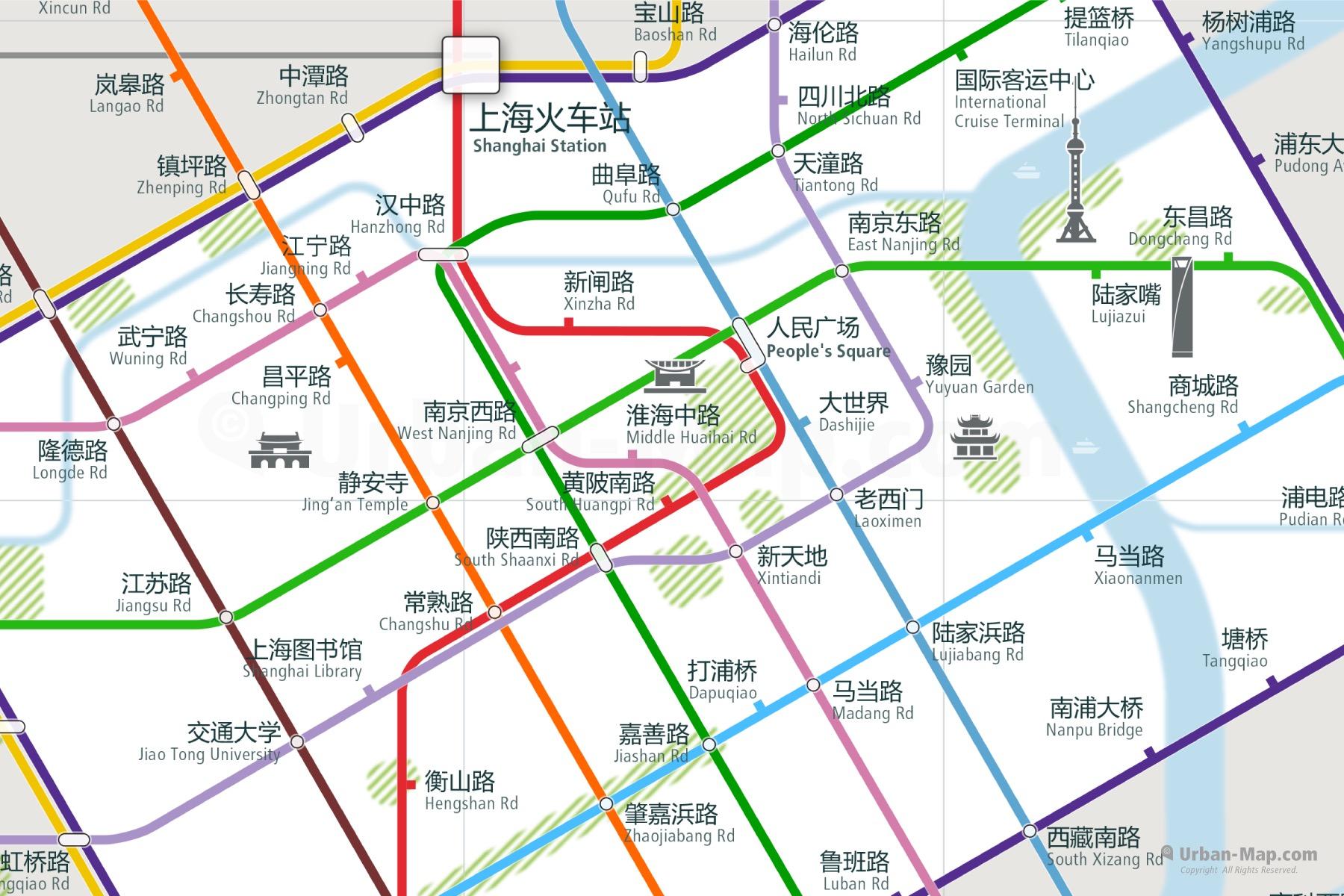 Shanghai Rail Map A Smart City Map Even Offline