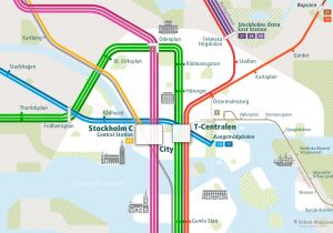 Stockholm City Rail Map