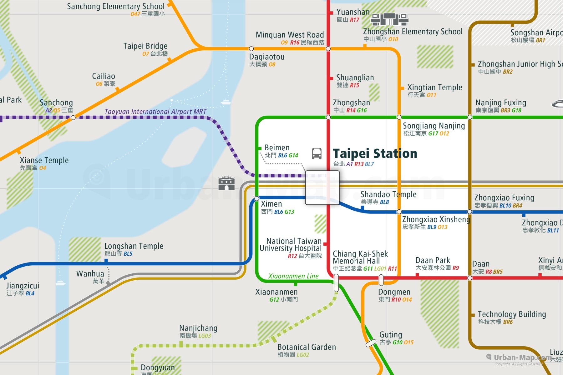 Subway Map Taipei.Taipei Rail Map A Smart City Guide Map Even Offline