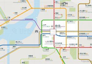 Taipei City Rail Map for train and public transportation - Taiwanese
