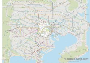 Tokyo City Rail Map for train and public transportation - Overview