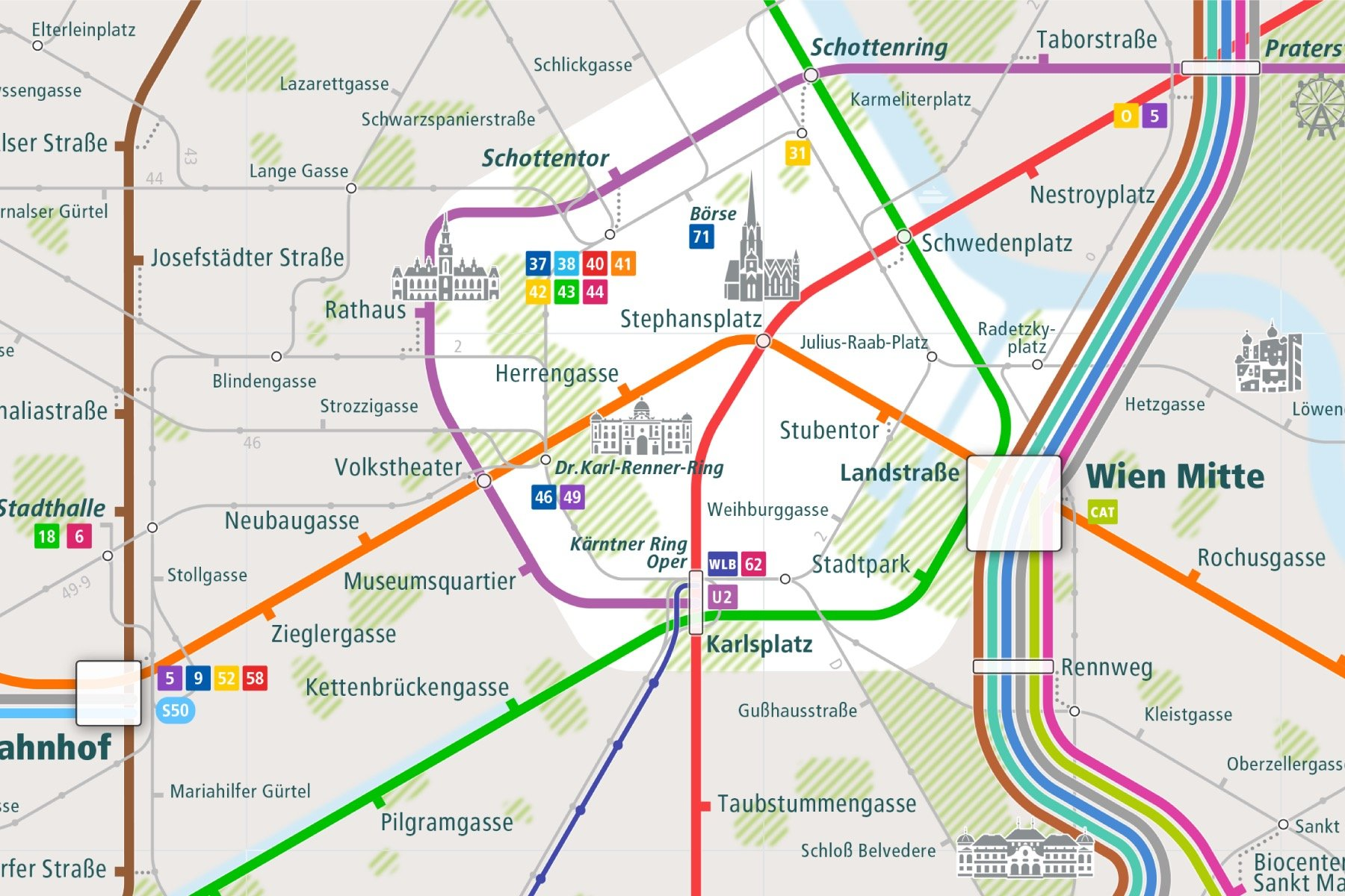 Urban-Map - City & Route Maps of major cities around the world.